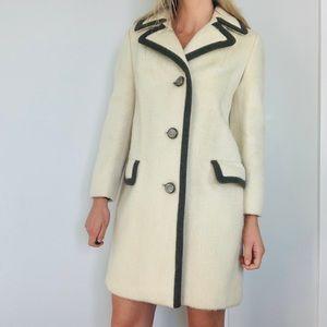Vintage Lodenfrey cream wool fuzzy coat jacket